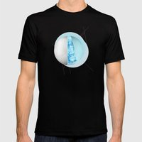 AURORAE Mens Fitted Tee Black SMALL