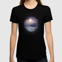 Sunset I C. III Womens Fitted Tee Black SMALL