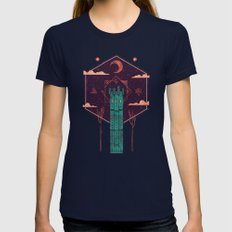 The Tower Azure Womens Fitted Tee Navy MEDIUM