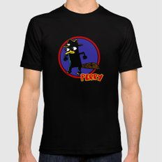 Perry The Platypus as Dick Tracy Black SMALL Mens Fitted Tee
