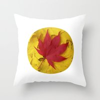 Red Leaf VII Throw Pillow