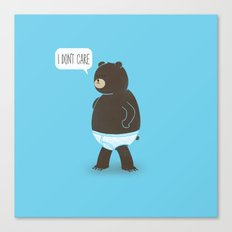 A Bear In Underwear That Just Don't Care Canvas Print
