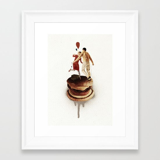 These Burgers Are Crazy II  | Collage Framed Art Print