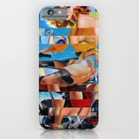 iPhone & iPod Case featuring Glitch Pin-Up: Zelda & Zoe by Wayne Edson Bryan