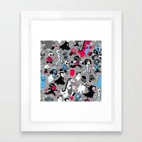 Alt Monster March (Gray) Framed Art Print