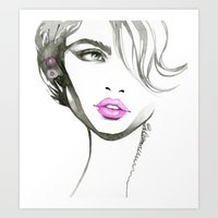 One Eyed Girl Art Print