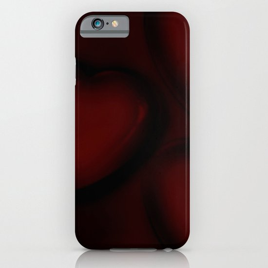 Red and black hearts iPhone & iPod Case