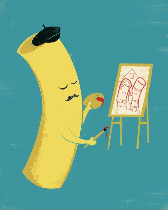 Macaroni Art Canvas Print
