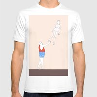 globo Mens Fitted Tee White SMALL
