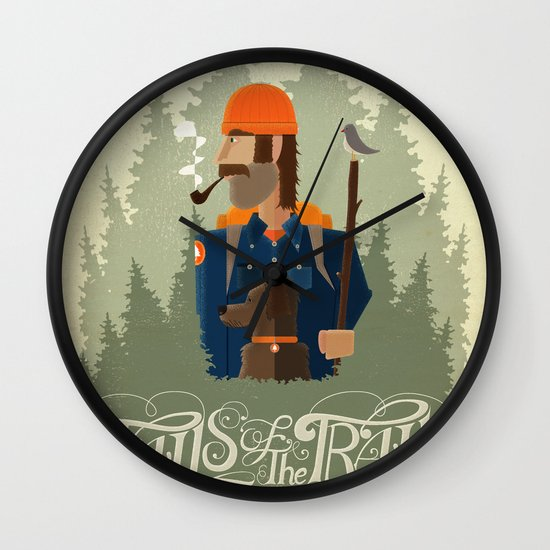 Tails of the Trail Wall Clock