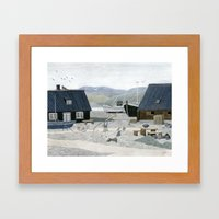 North Fishing Village Framed Art Print