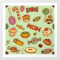 candy and pastries Art Print