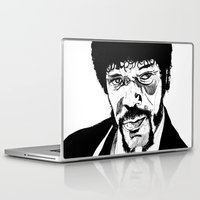 pulp fiction Laptop & iPad Skins featuring Pulp Fiction by Giorgia Ruggeri