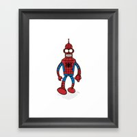 Spenderman Framed Art Print