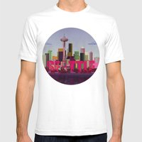 Seattle Mens Fitted Tee White SMALL