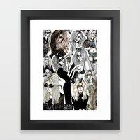 Taylor Momsen Collage No… Framed Art Print