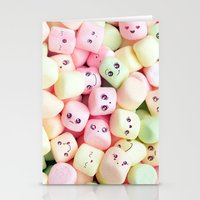 Marshmallow smile  Stationery Cards