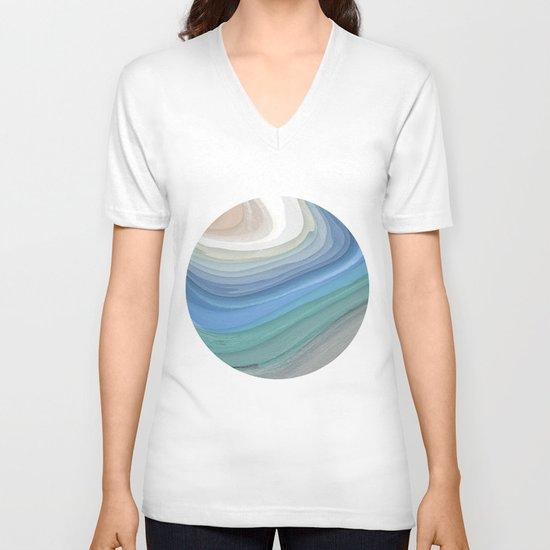 Topography V-neck T-shirt