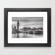 Westminster Bridge And B… Framed Art Print