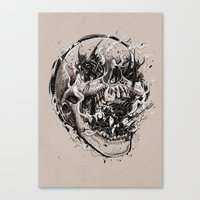 Skull With Demons Strugg… Canvas Print