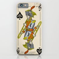 iPhone & iPod Case featuring musical poker / trombone by bananabread