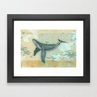 rhythm of the whale Framed Art Print
