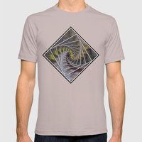 Wattle Mandala Mens Fitted Tee Cinder SMALL