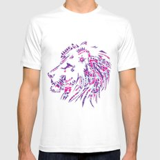 Aztec Lion Mens Fitted Tee White SMALL