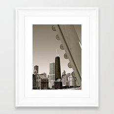 Stark Chicago in Black & White Framed Art Print