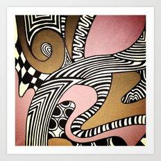 Dusty Pink Art Print