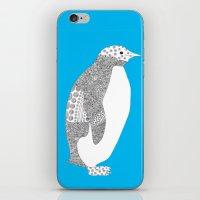 Light blue-Penguin iPhone & iPod Skin