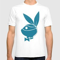Playboy Turtle: Leonardo Mens Fitted Tee White SMALL