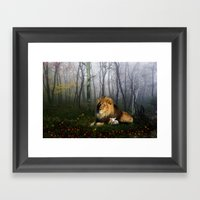Lion and Lamb Framed Art Print