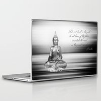 buddha Laptop & iPad Skins featuring Buddha by Fine Art by Rina