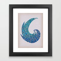 - new wave - Framed Art Print