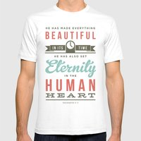 He Has Made Everything B… Mens Fitted Tee White SMALL