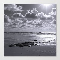 Sylt Mono - Stones Canvas Print