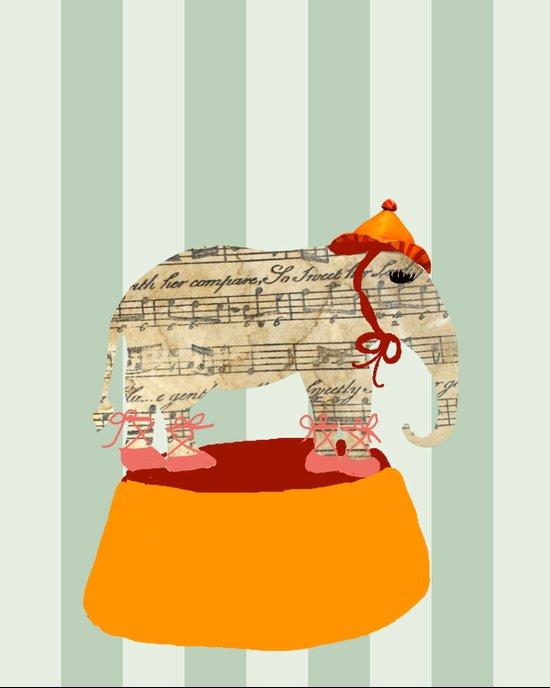 Dancing Elephant Canvas Print