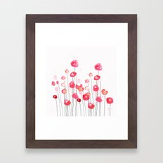Poppies in Pink Framed Art Print