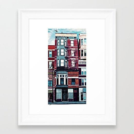 18th Street Framed Art Print