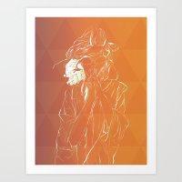 Frambuesas Art Print