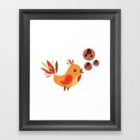 Talking Bird Framed Art Print