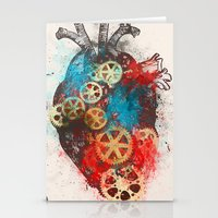 Mechanical Heart Stationery Cards