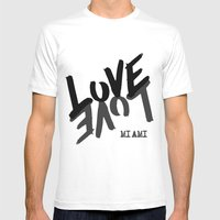 LOVE - Miami - Mens Fitted Tee White SMALL