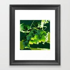 green floral Framed Art Print