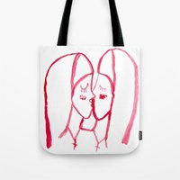 kissing nuns Tote Bag