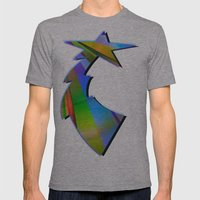 Rainbow Point Mens Fitted Tee Athletic Grey SMALL