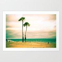 Lone Palms Art Print