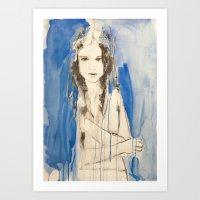 Through The Blue Haze Art Print