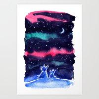 Happy New Year Bears Art Print